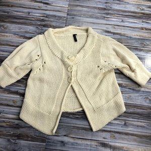 Topshop Three Button, 3/4 Sleeve Knit Cardigan
